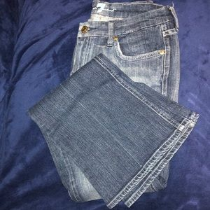 7 For All Mankind flared denim size 28